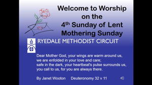 Sunday Worship 14 March